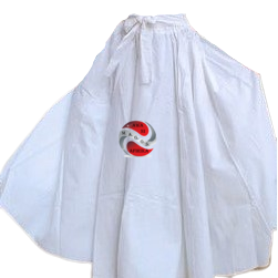 Long Solid White Color African Fabric Maxie Skirt