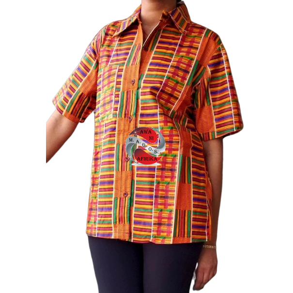 Unisex African Print Kente 1 Button Down Shirt