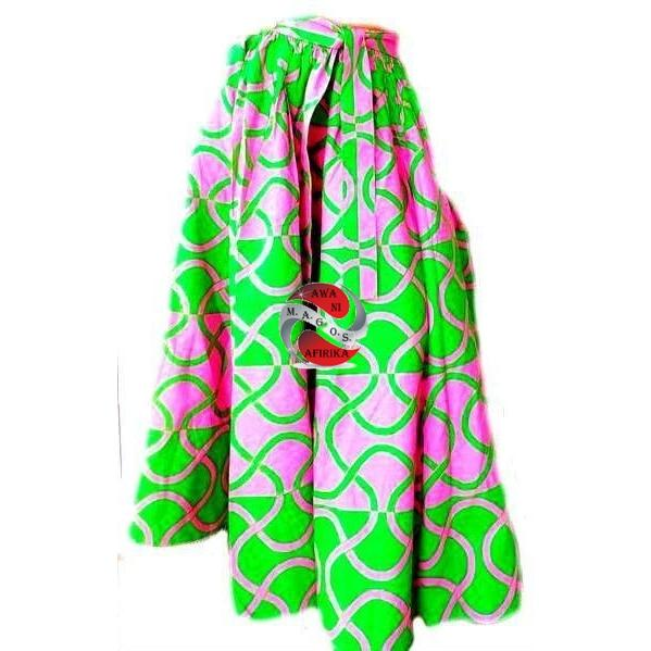 Women African Spiral Print Long Skirt