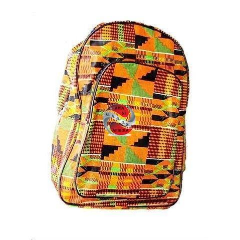 African Kente Print Large Back Pack - Style 2