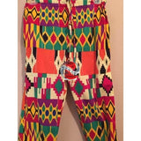 Women's Authentic African Print Combination Pant Set Black (One of a kind) - | M.A.G.O.S. African print pants for ladies, African print shirts for ladies, African print mermaid dress