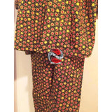 Handmade Authentic 100% Cotton African Fabric Print 2pc Pant Set - | M.A.G.O.S. African print pants for ladies, African print shirts for ladies, African print mermaid dress