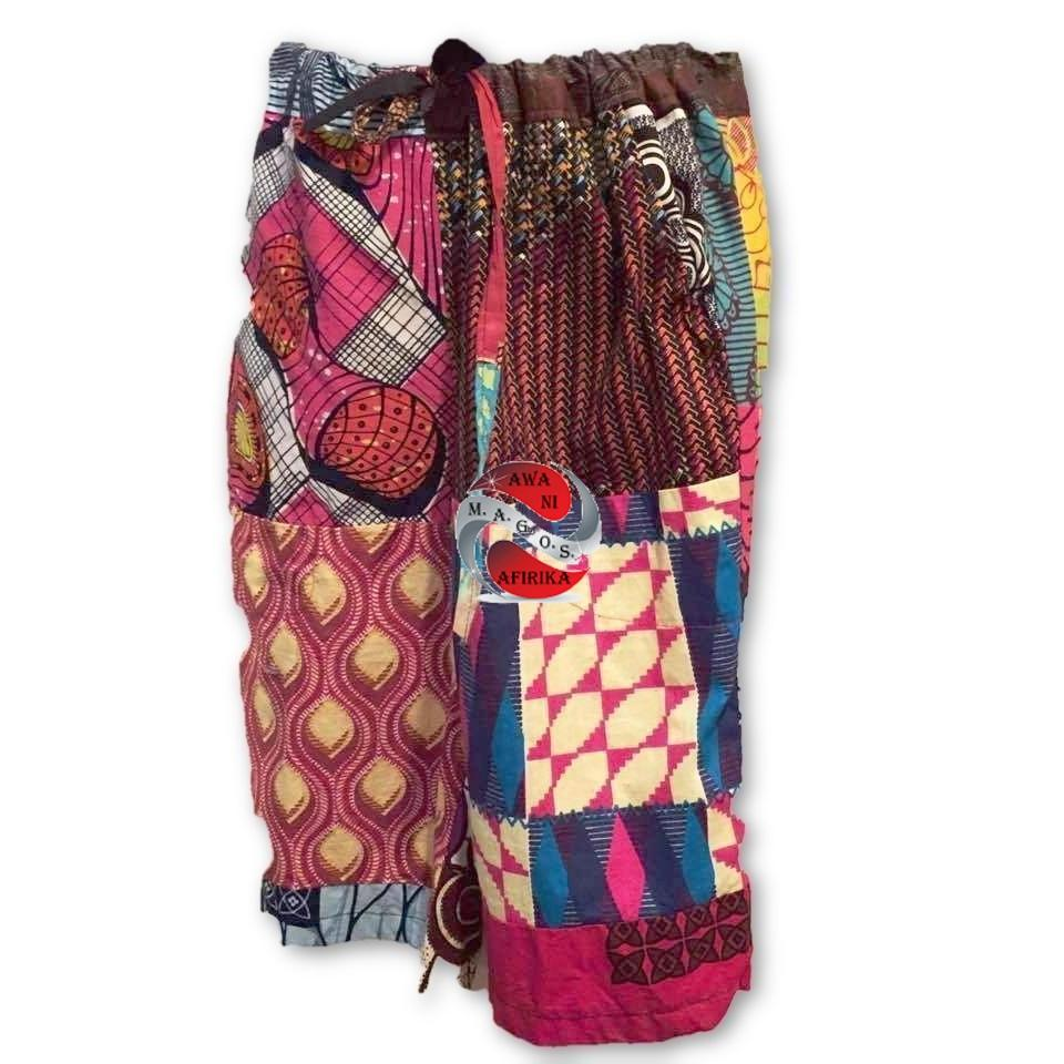 African Patchwork Knee Length Shorts - M.A.G.O.S.