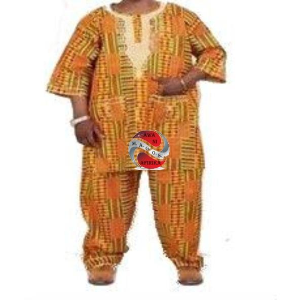 MEN 3pc EMBROIDERY KENTE PANT SET - Style 1