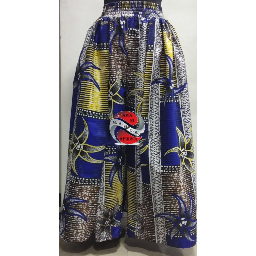 AFRICAN WAX PRINT CAPE PANT SKIRT