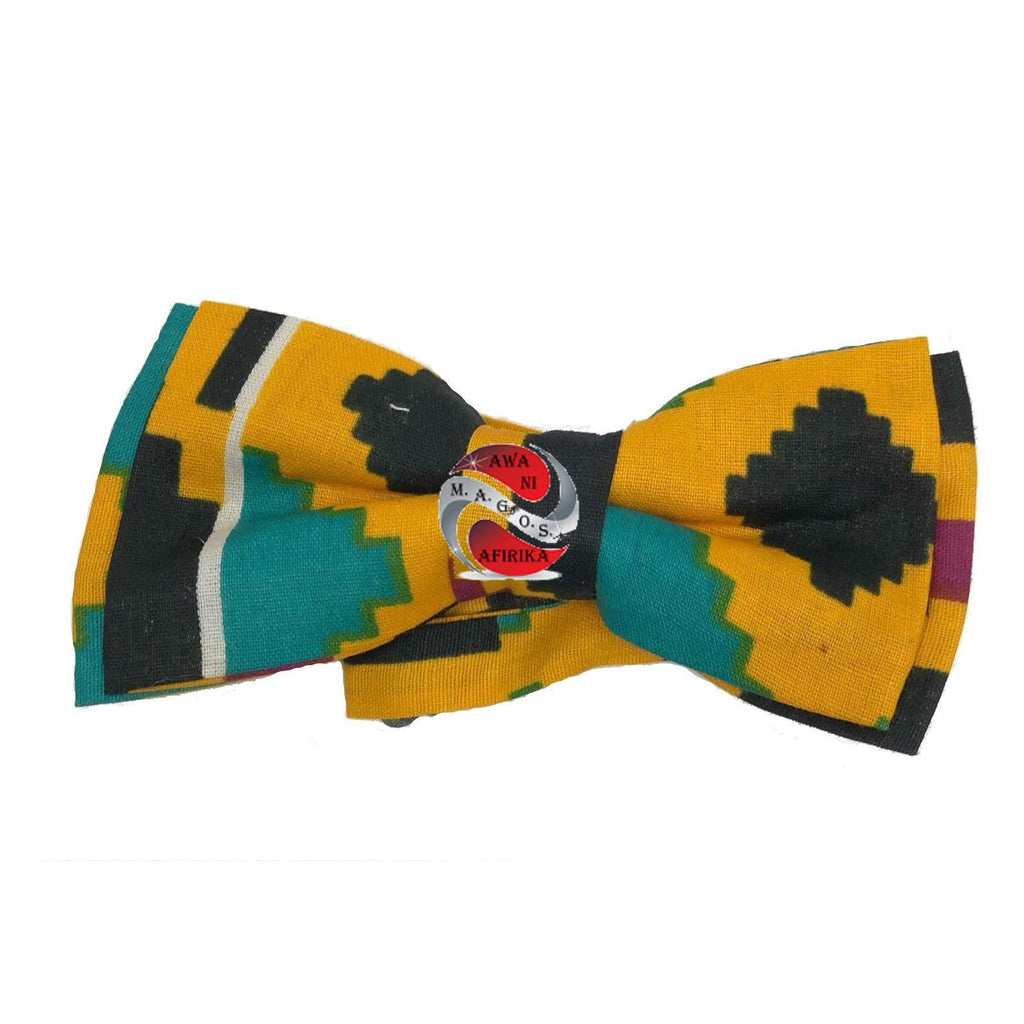 African Print Kente Bow Tie - Style 5