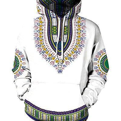 Ethnic Hooded Dashiki Sweatshirt 2X/3X - M.A.G.O.S.