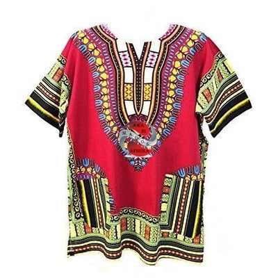 Burgundy African Dashiki Shirt (5X-Large) - M.A.G.O.S.