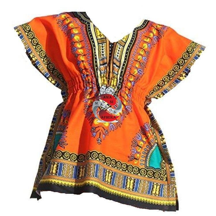 Children's African Elastic Waist Dashiki Shirt - | M.A.G.O.S. African print shirts for boys, African print kids clothing, African inspired kids fashion