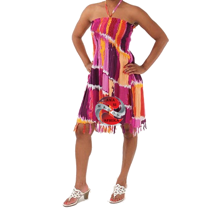Ladies - Juniors Baby Doll Rainbow Dress