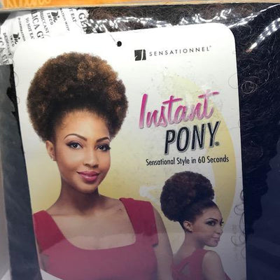 Afro Kinky Instant Pony - Popular African and Designer Brands Goods