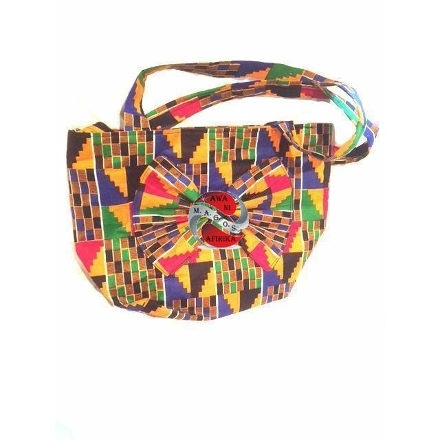 Kente Print Bow Tote Bag - | M.A.G.O.S. African accessories men, African print accessories, traditional African headscarf