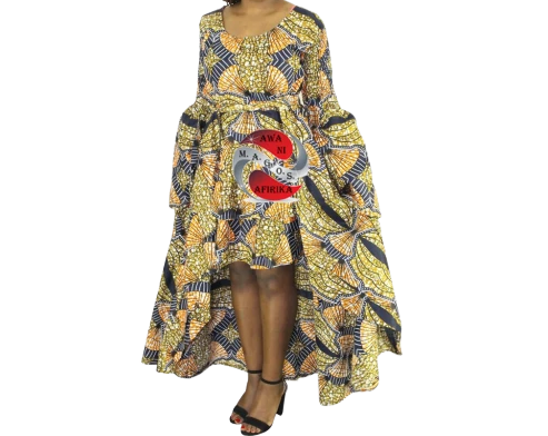 Women's African Dashiki Sage Print Dress