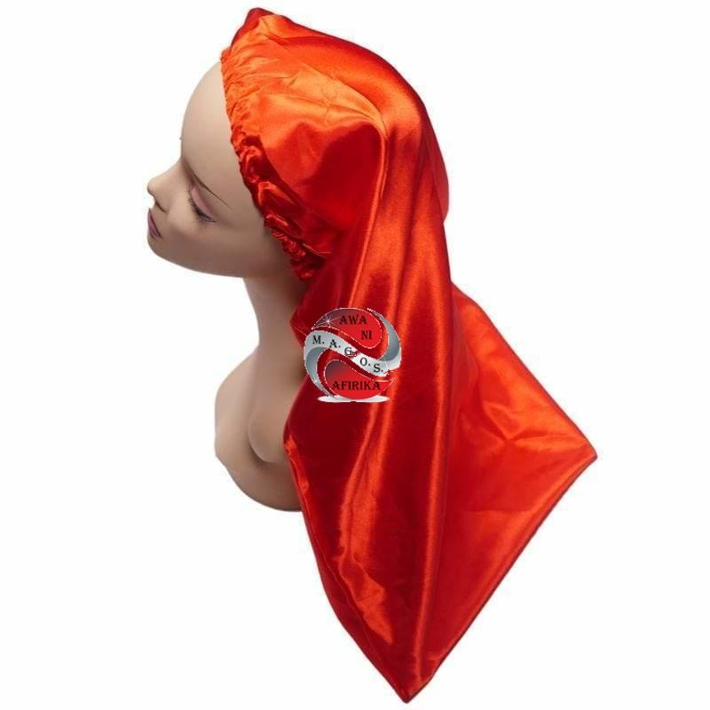 Long Silk Bonnet - | M.A.G.O.S. authentic name brand fashion clothing, genuine designer fashion accessories, imported African products