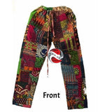 Plus Size African Patchwork Lounge Around Trousers (3xl) - 3XLarge | M.A.G.O.S. African print pants for ladies, African print shirts for ladies, African print mermaid dress