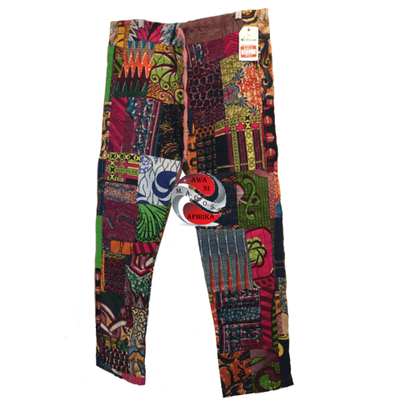 Plus Size African Patchwork Lounge Around Trousers (3xl) - M.A.G.O.S.