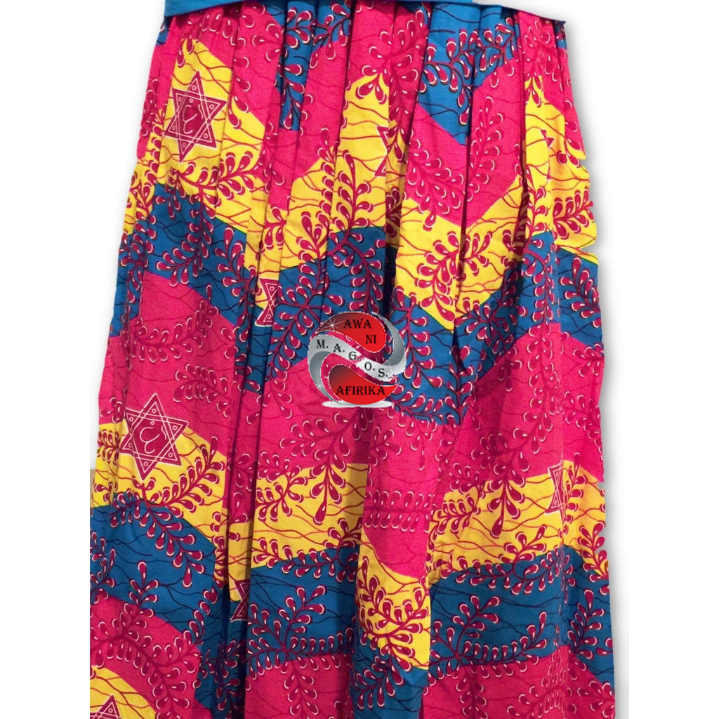Handmade Classy African Print 2pc Maxi Skirt Set (One of a kind) - | M.A.G.O.S. African print pants for ladies, African print shirts for ladies, African print mermaid dress