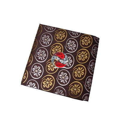 Ladies African Coffee Flower Embroider Headtie - My African Goods & Exotic Scents