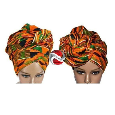 African Kente Print Headwrap - Popular African and Designer Brands Goods