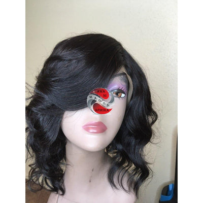 Layered Lace Front Bob Wig with bang - M.A.G.O.S.