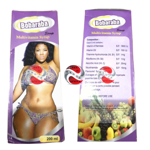 Bobaraba Quick Action Breast And Buttocks Enlargement Multivitamin 200ml