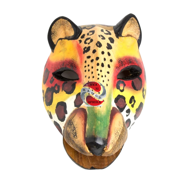 Colorful Kenyan Cheetah Mask