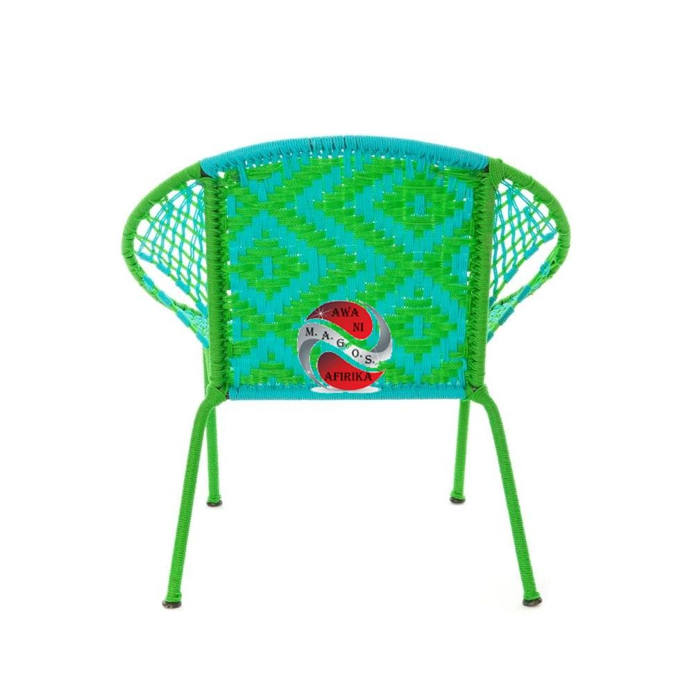 Green & Aqua Petite Children's Peekaboo Chair