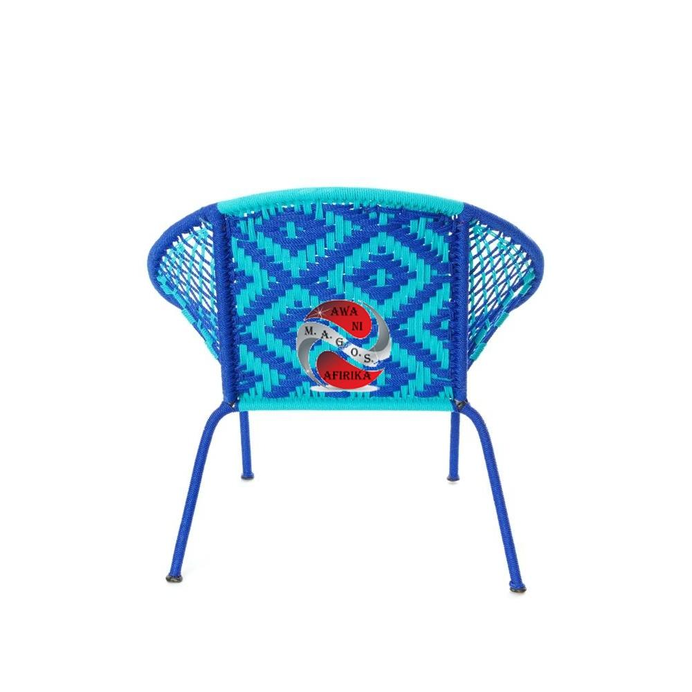 Blue & Aqua Petite Children's Peekaboo Chair
