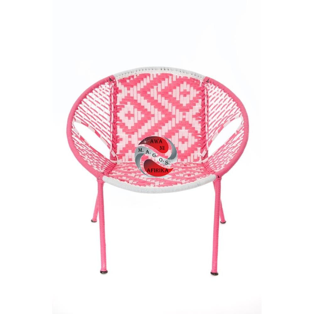 Pink & White Petite Children's Peekaboo Chair