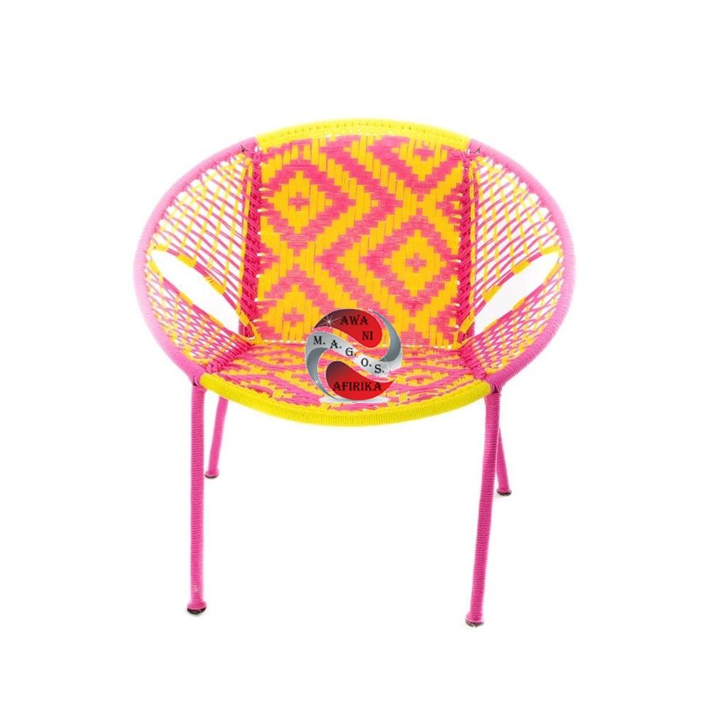 Pink & Yellow Petite Children's Peekaboo Chair