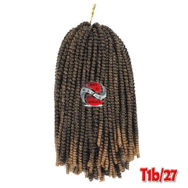 Nubian Twist Short Synthetic Crochet Braids - T1B/27 8inches | M.A.G.O.S. authentic name brand fashion clothing, genuine designer fashion accessories, imported African products