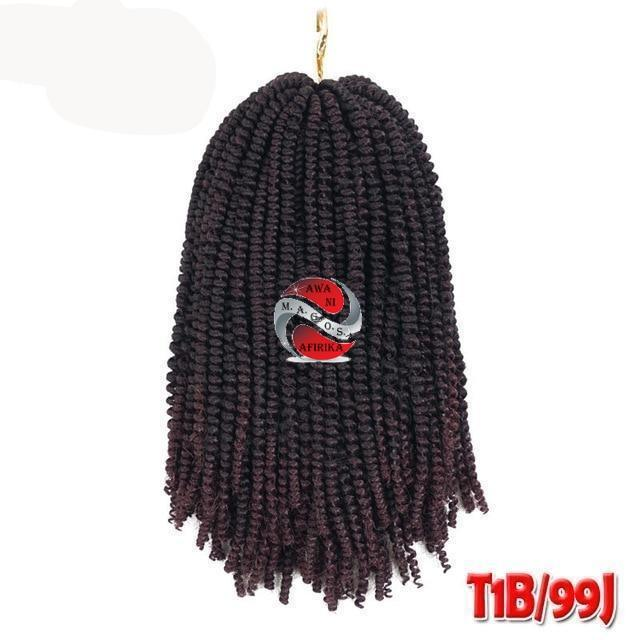 Nubian Twist Short Synthetic Crochet Braids - #99J 8inches | M.A.G.O.S. authentic name brand fashion clothing, genuine designer fashion accessories, imported African products