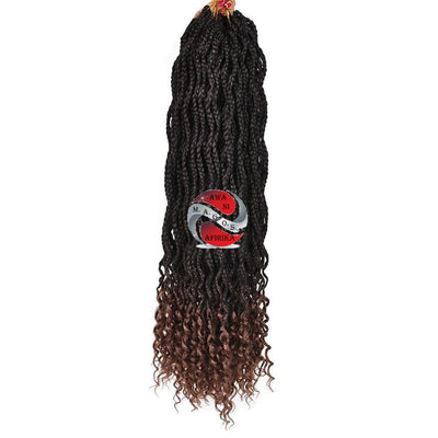 Black Kanekalon Synthetic Box Hair Crochet Braids Extensions - Popular African and Designer Brands Goods