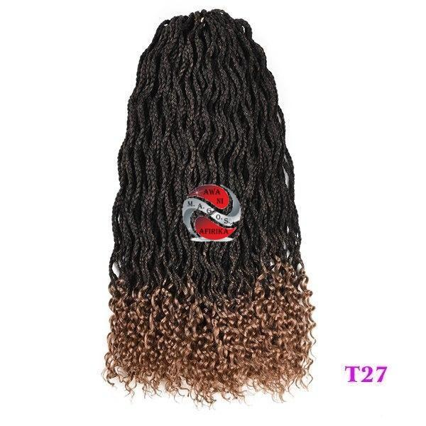 Black Kanekalon Synthetic Box Hair Crochet Braids Extensions - T1B/27 18inches | M.A.G.O.S. authentic name brand fashion clothing, genuine designer fashion accessories, imported African products