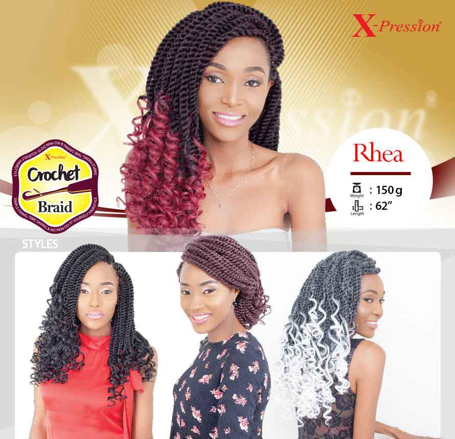 X Pression Collection Rhea Crochet Braids Magos Authentic