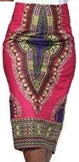 Women's Traditional African Print Skirt