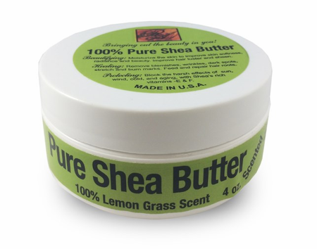 Lemon Grass Scented Shea Butter 4oz