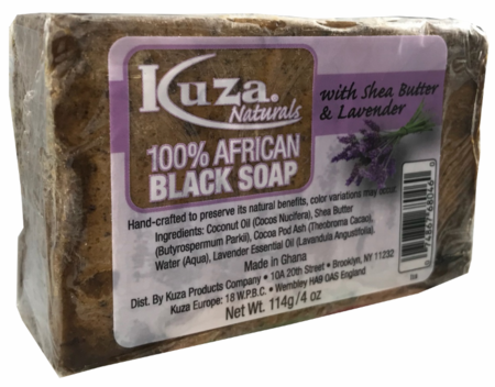 100% African Black Soap With Shea Butter & Lavender