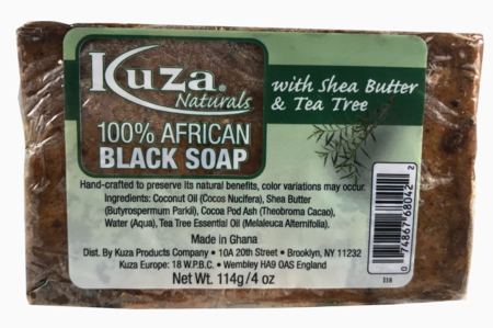 100% African Black Soap with Shea Butter & Tea Tree