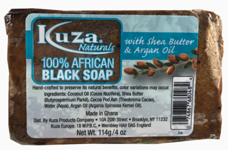 100% African Black Soap with Shea Butter & Argan Oil