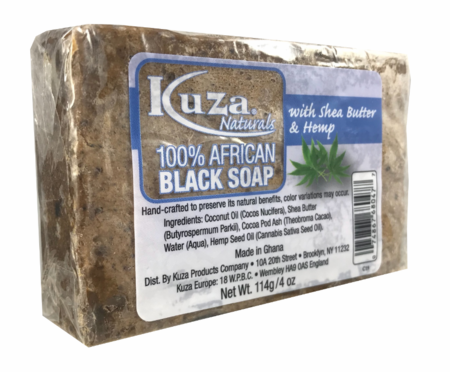 100% African Black Soap with Shea Butter & Hemp
