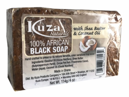 100% African Black Soap with Shea Butter & Coconut Oil