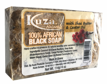 100% African Black Soap with Shea Butter & Castor Oil