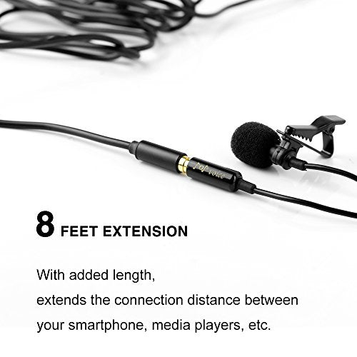 PoP voice 8 Feet 3.5mm Stereo Audio Microphone Extension Cable