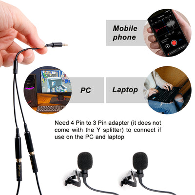 PoP voice TRRS Y Splitter mic and mic