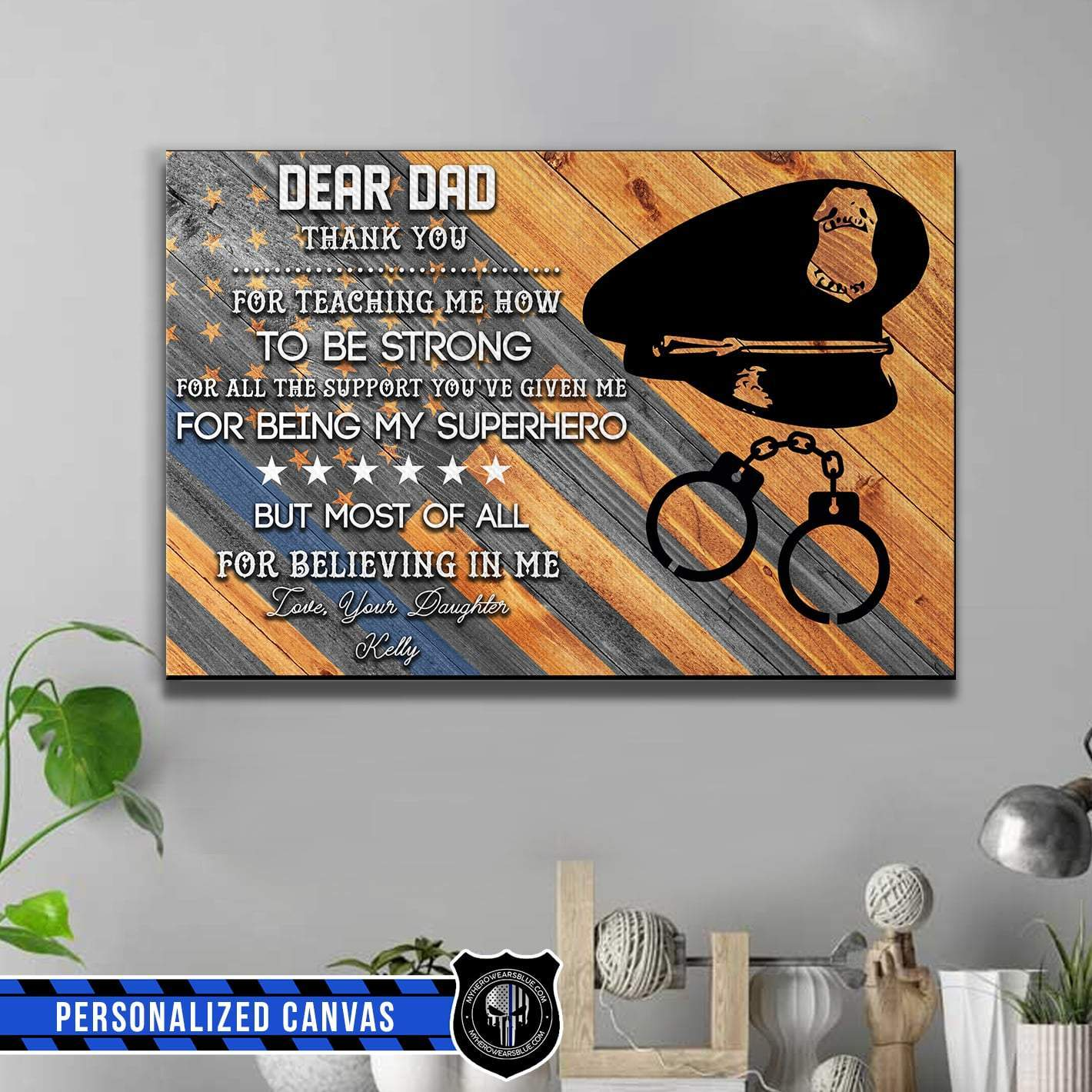 Personalized Canvas - Dear Dad Letter