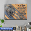 "Canvas Prints 24"" x 16"" - BEST SELLER Personalized Canvas - To My Mom - Police Badge"