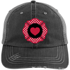 Hats Black/Grey / One Size Firefighter Heart Emblem Embroidery Trucker Cap