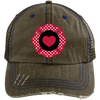 Hats Brown/Navy / One Size Firefighter Heart Emblem Embroidery Trucker Cap