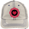 Hats Putty/Navy / One Size Firefighter Heart Emblem Embroidery Trucker Cap